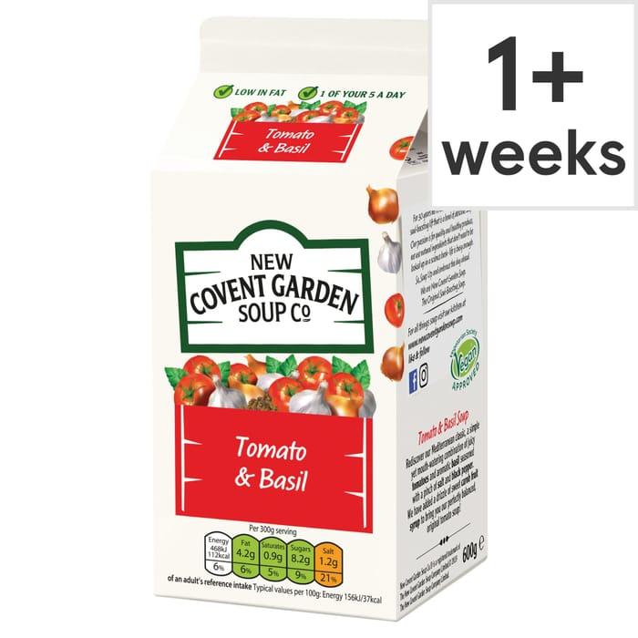 Covent Garden Plum Tomato & Sweet Basil Soup 600G - HALF PRICE!