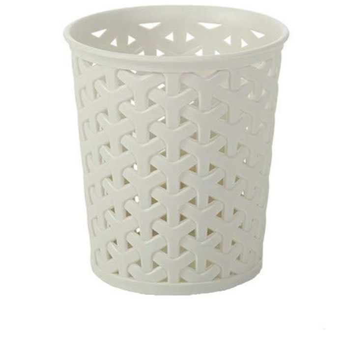 Cheap CURVER Faux Rattan Dresser Storage Pot, White, 11 X 6 X 11 Cm, Only £1.75!