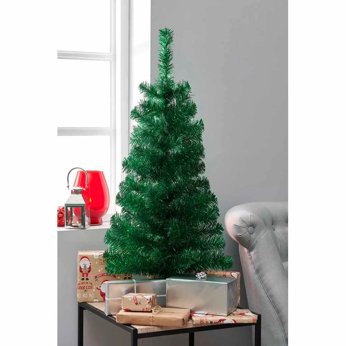 Wilko Tree Green Tinsel 3ft save 86%
