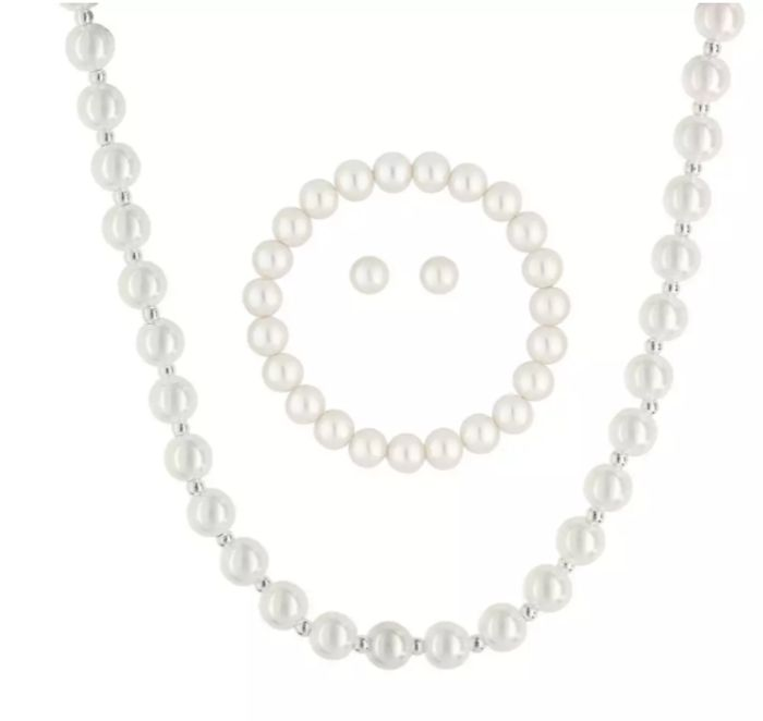 Mood-Silver Plated Pearl 3 Piece Set