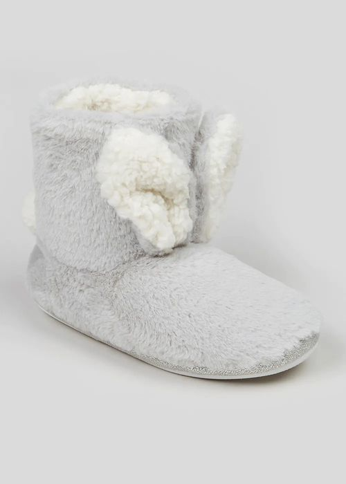 Cheap Grey Bunny Ear Slippers Boots, Grey, Medium, Only £7!