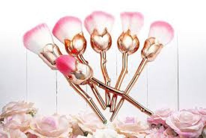 Beautiful You Rose Makeup Brushes - 2 Colours