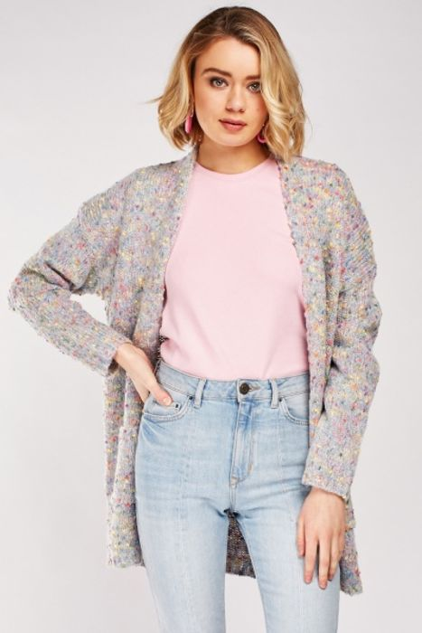 Multi-Coloured Bobble Knit Cardigan for £5!