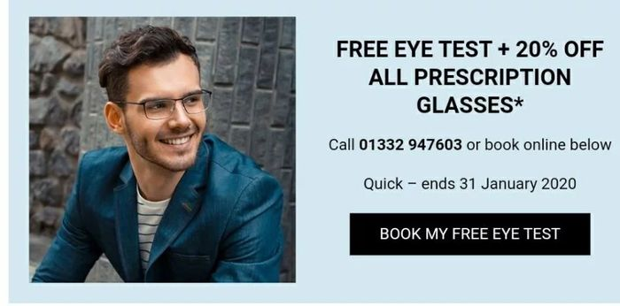 Free Eye Test + 20% off All Prescription Glasses