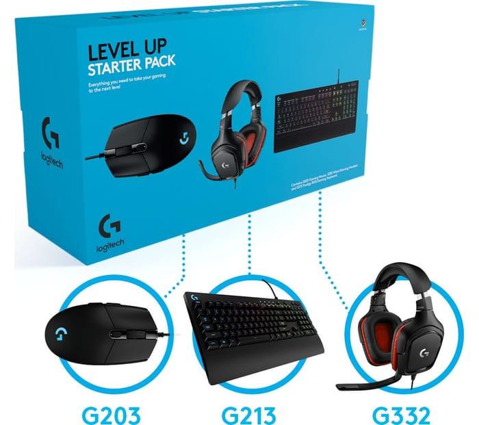 *SAVE £34* LOGITECH Level up Keyboard, Mouse & Headset Starter Pack
