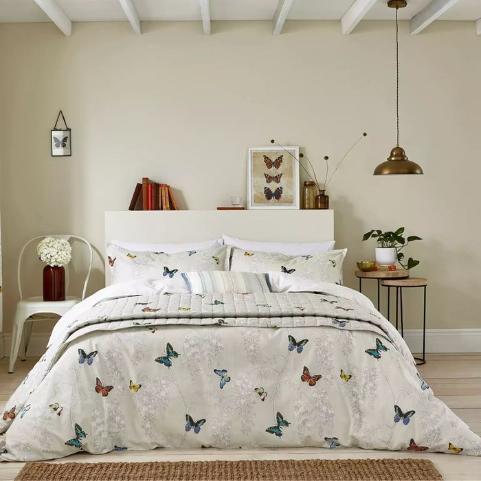 Best Price! Sanderson Cotton 'Wisteria & Butterfly' Duvet Cover Set Double