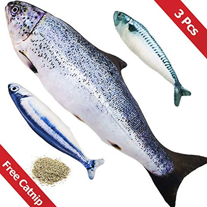 PetIsay Catnip Interactive Fish Toy(Set of 3