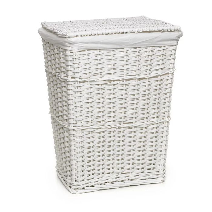Cheap Wilko White Split Wood Laundry Hamper Only £10