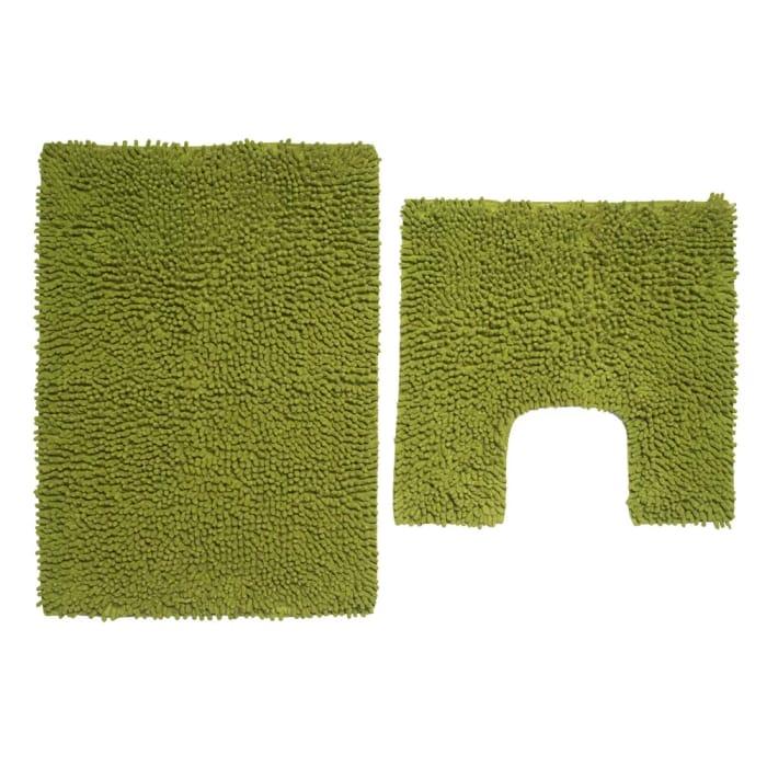 Wilko Green Bathmat Set