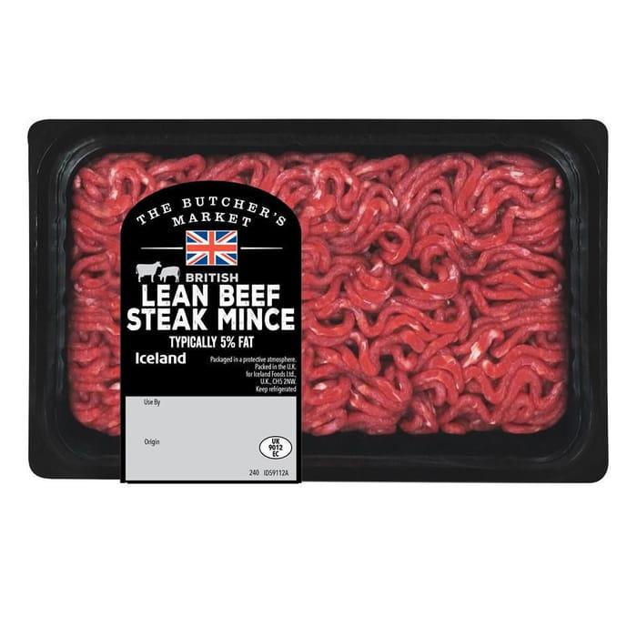 Lean Beef Steak Mince Typically 5% Fat 400g