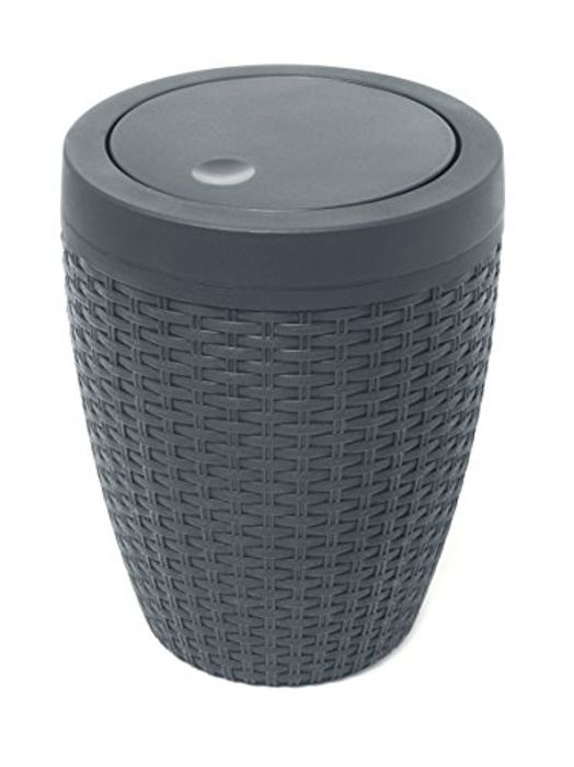 Addis Faux Rattan round Swing Lid Bathroom Bin on Sale From £12 to £9.6