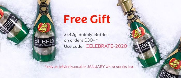Spend Over £30 This Month & Get 2 X 42g Jelly Belly 'Bubbly' Bottles