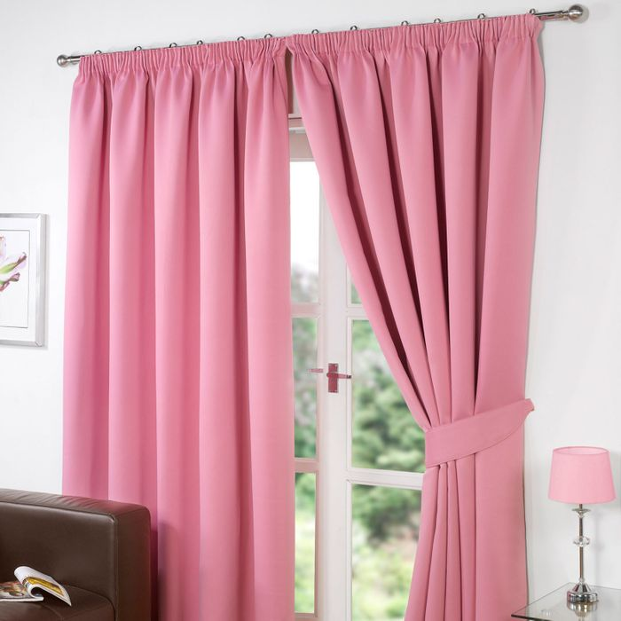 "Pencil Pleat Blackout Curtains 66""x90"""