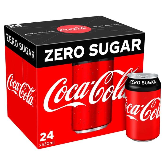 Coca-Cola Zero Sugar 24 X 330ml £6 at Iceland