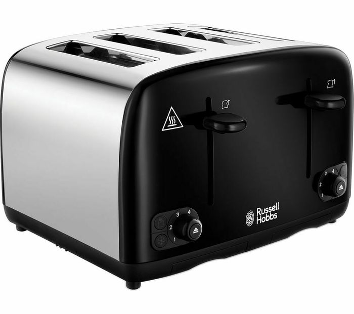 RUSSELL HOBBS Cavendish 24093 4-Slice Toaster - Black - Currys - Only £18!