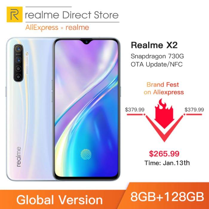 "Global Version Realme X2 8GB RAM 128GB ROM NFC 6.4"""