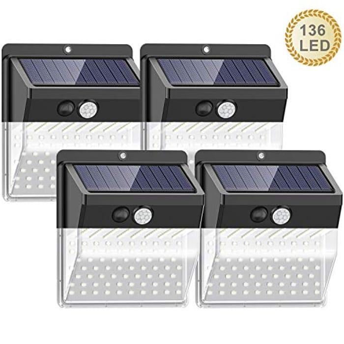 Solar Lights Outdoor, 4 Pack
