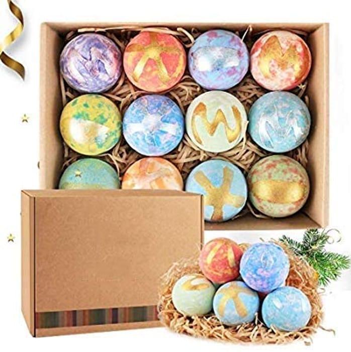 12 Organic Natural Bath Bomb Gift Set