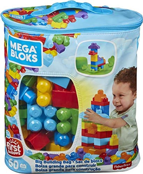 Mega Bloks Big Building Bag, 60 Pieces (Minimum Order 2)