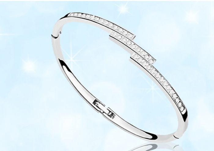 Cheap Swarovski Elements Triple Crystal Row Bracelet, Only 4.49!