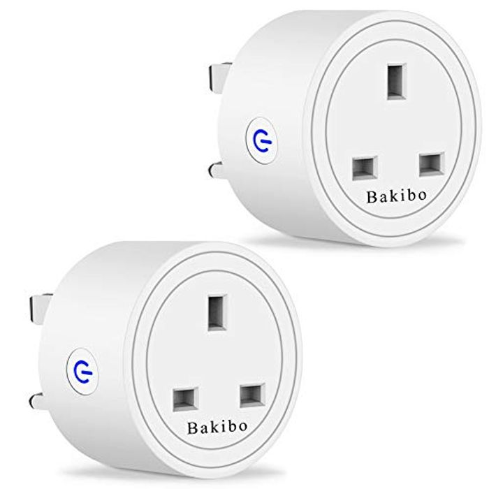 Bakibo WiFi Smart Plug Socket Compatible with Alexa, Google Home and IFTTT