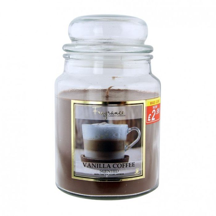 Best Price! Large Jar Candle 18oz - Vanilla Coffee Only £2.99