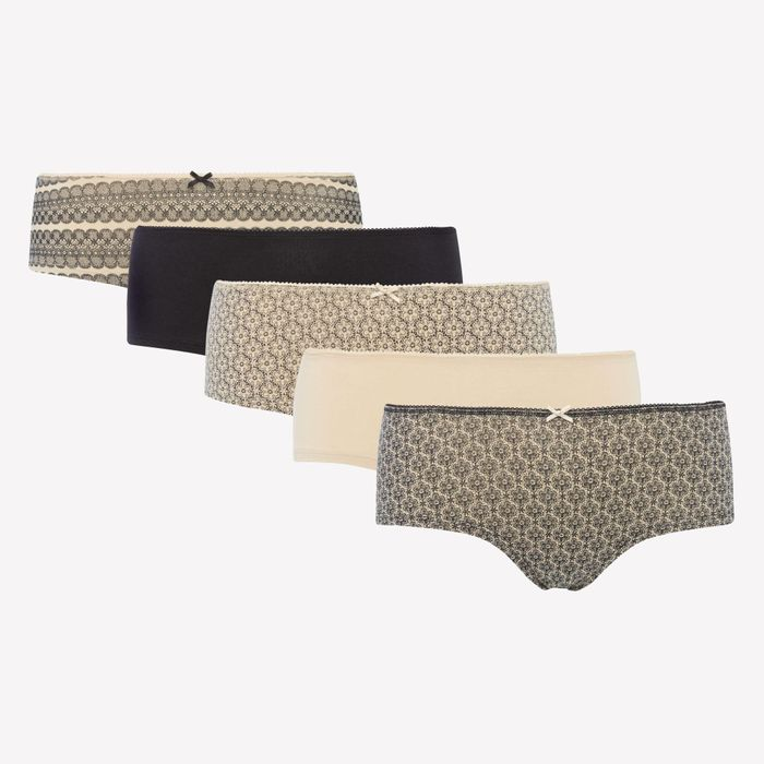 5 Pack Cotton Blend Shorts - save £2.40