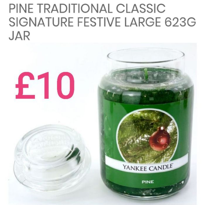 Pine Traditional Classic Signature Festive Large 623g Jar