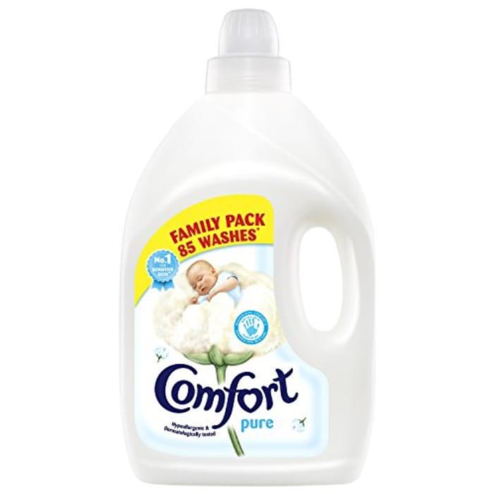 Cheap Comfort Pure Fabric Conditioner 85 Wash, 3L - Save £2!