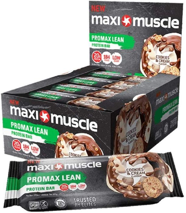 Maxi Muscle Promax High Protein Bar Cookies and Cream Flavour 55g X 12