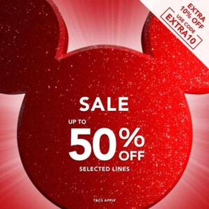Up to 50% off Disney Sale + Extra 10% off with Code