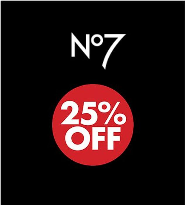 BOOTS No7 - SAVE 25% - Stock Up For Less!