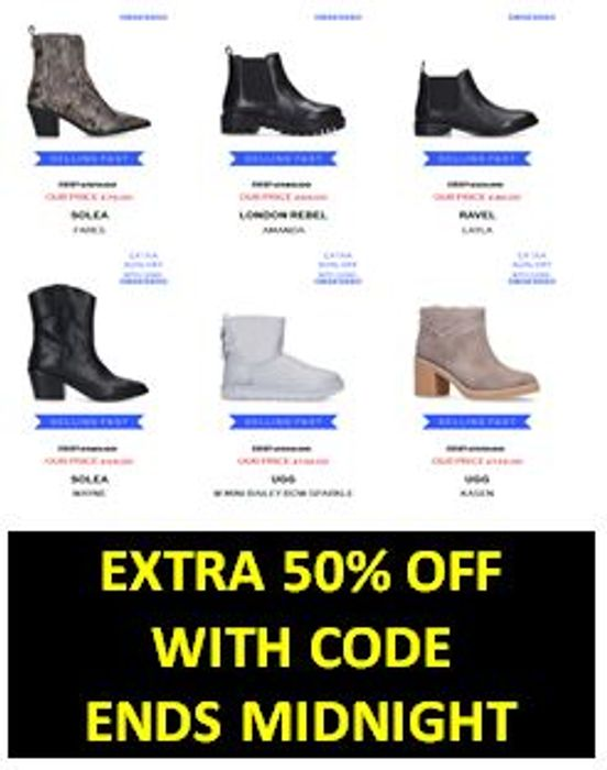 QUICK! EXTRA 50% off Boots Inc UGGS Ends MIDNIGHT