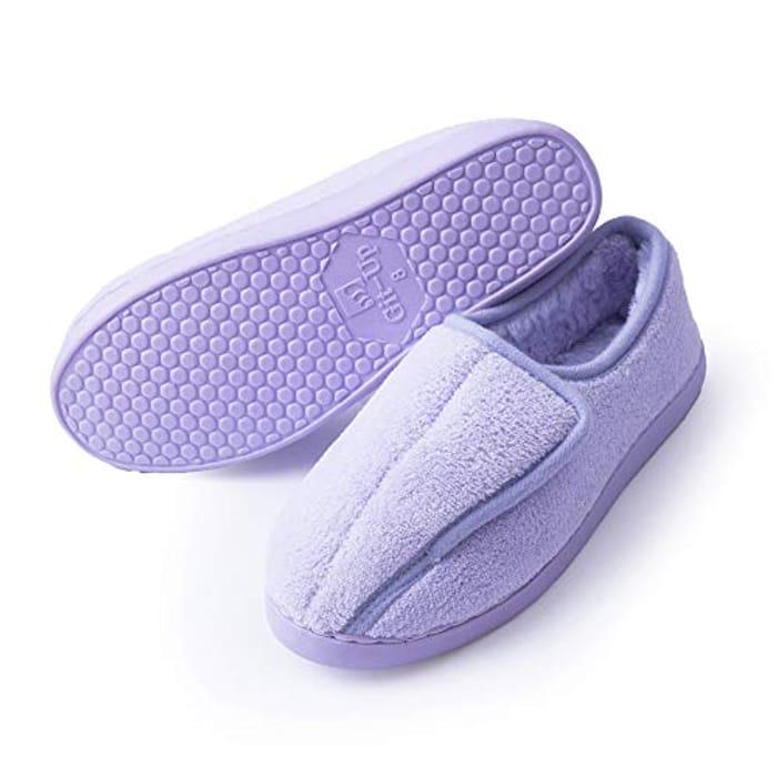 Ladies Diabetic Slippers Arthritis Edema Memory Foam Closed Toed - save 30%
