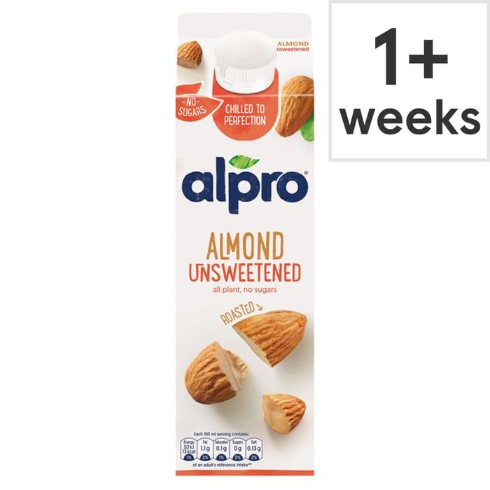 Alpro Fresh Roasted Almond Unsweetened Drink Alternative 1 Litre