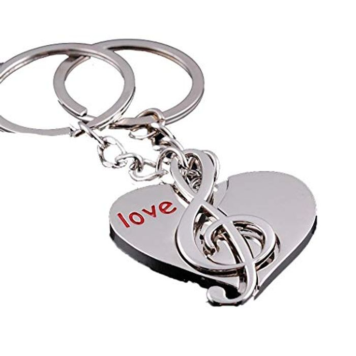 2pcs Casual Heart and Note Shape Keychain 80% off + Free Delivery