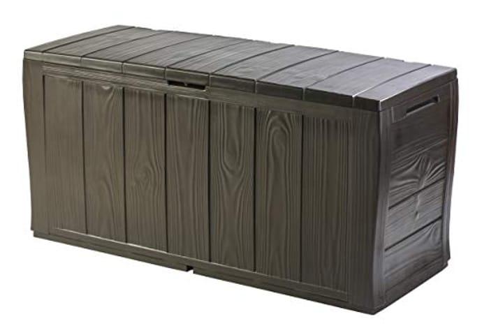 Best Price! Keter Sherwood Outdoor Storage Box Garden Furniture - Brown