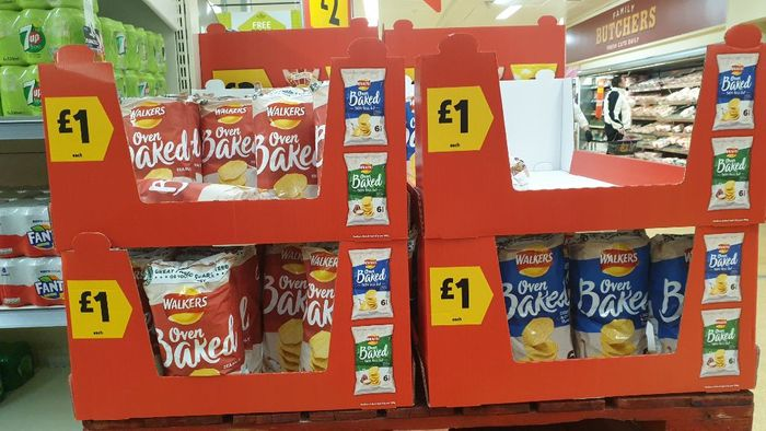 Walkers Oven Baked Crisps £1