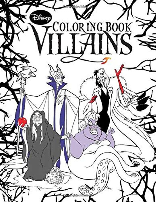 Disney Villains Coloring Book: Over 50+ Funny Coloring Pages