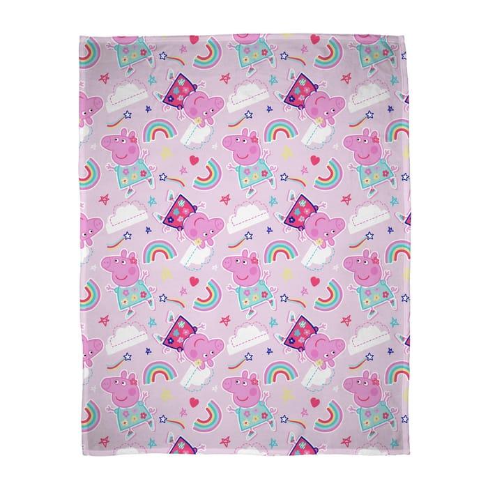 Cheap Peppa Pig Sticker Fleece Blanket HALF PRICE