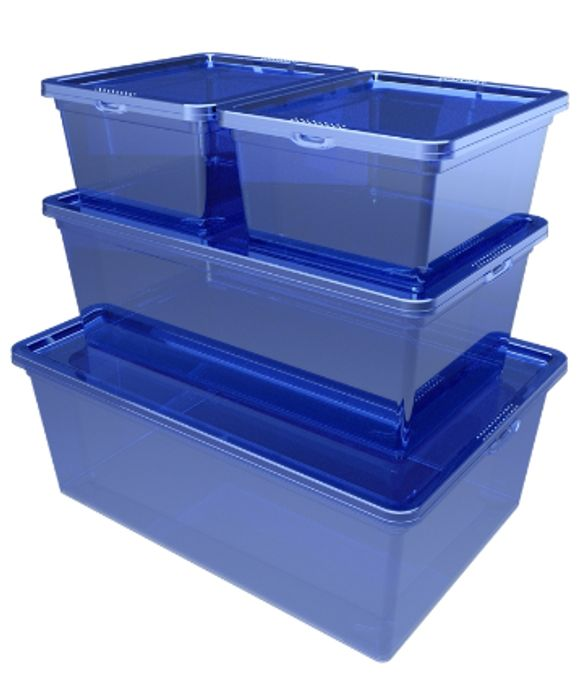 Cheap Storage Box Set - Blue - 4 Pack Only £5!