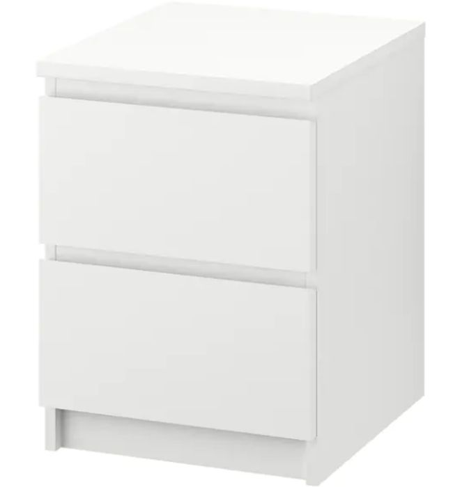 MALM Chest of 2 Drawers, White, 40x55 Cm Only £24