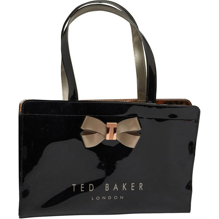 Ted Baker Womens Salycon Bow Detail East West Icon Bag Black