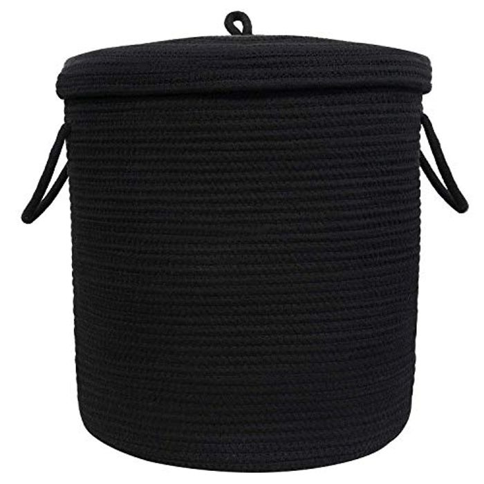 Large Woven Basket with Lid | Laundry Basket with Lid