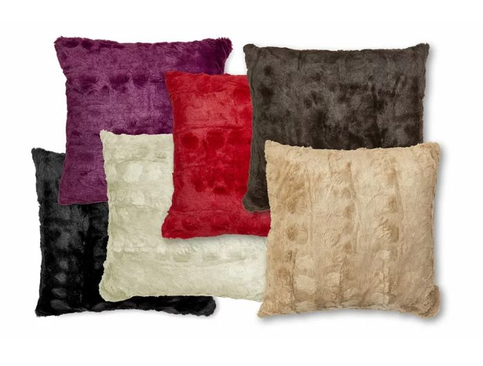 Filled Faux Fur Reversible 45cm Cushion £5.99 Delivered - 6 Colours