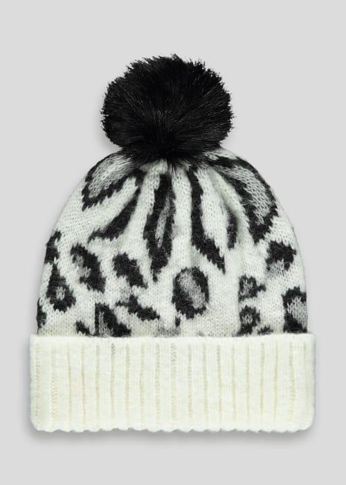 Animal Print Bobble Hat