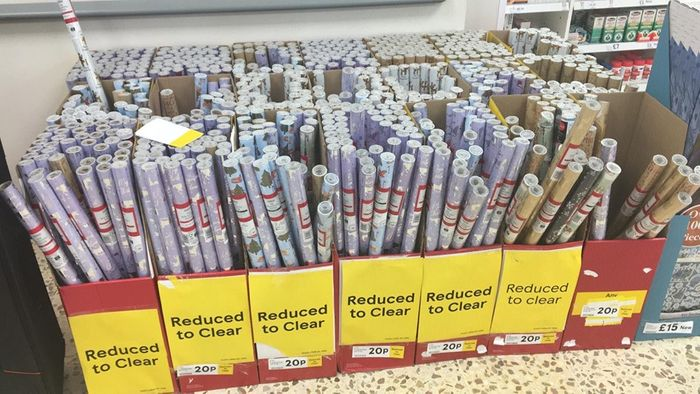 All Christmas Wrap Now Just 20p and Gift Tags 7p Instore Tescos