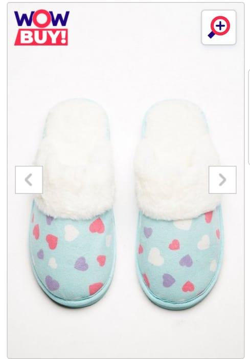 Fluffy Faux Fur Lined Mule Slippers