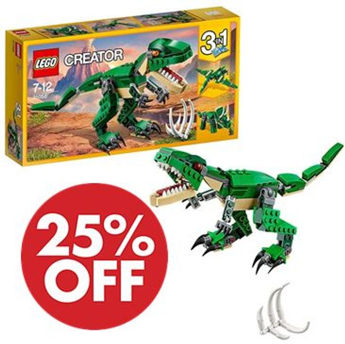 LEGO CREATOR - 3-in-1 Mighty Dinosaurs (31058)