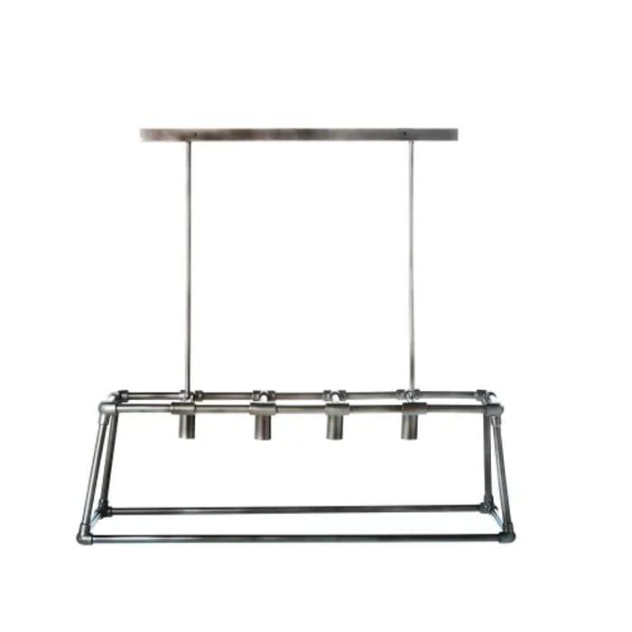Brushed Metal Pipes Pendant Light Fixture